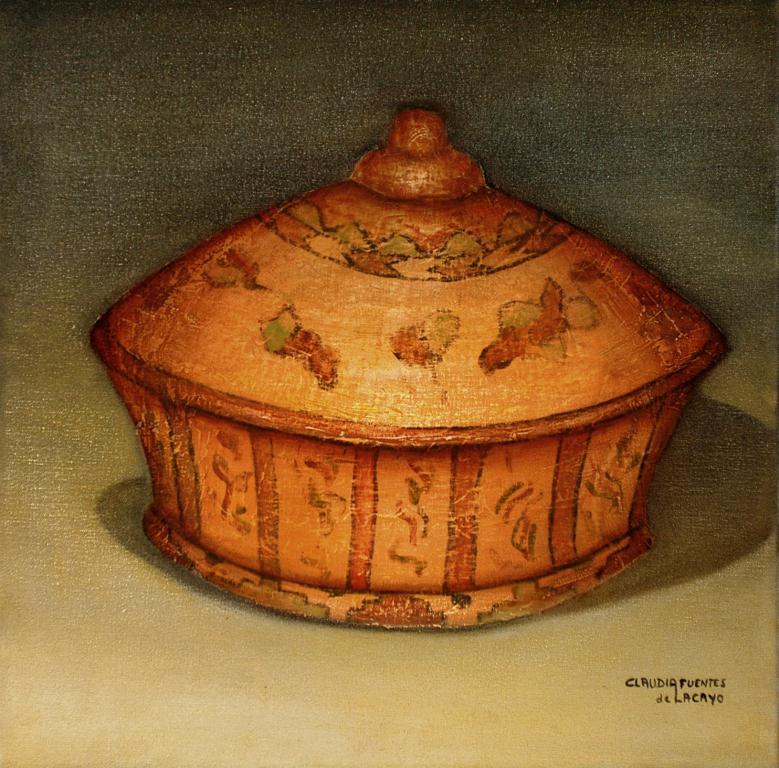 Sacred Urn, texturized oil on canvas, 50x50cm. 2006.