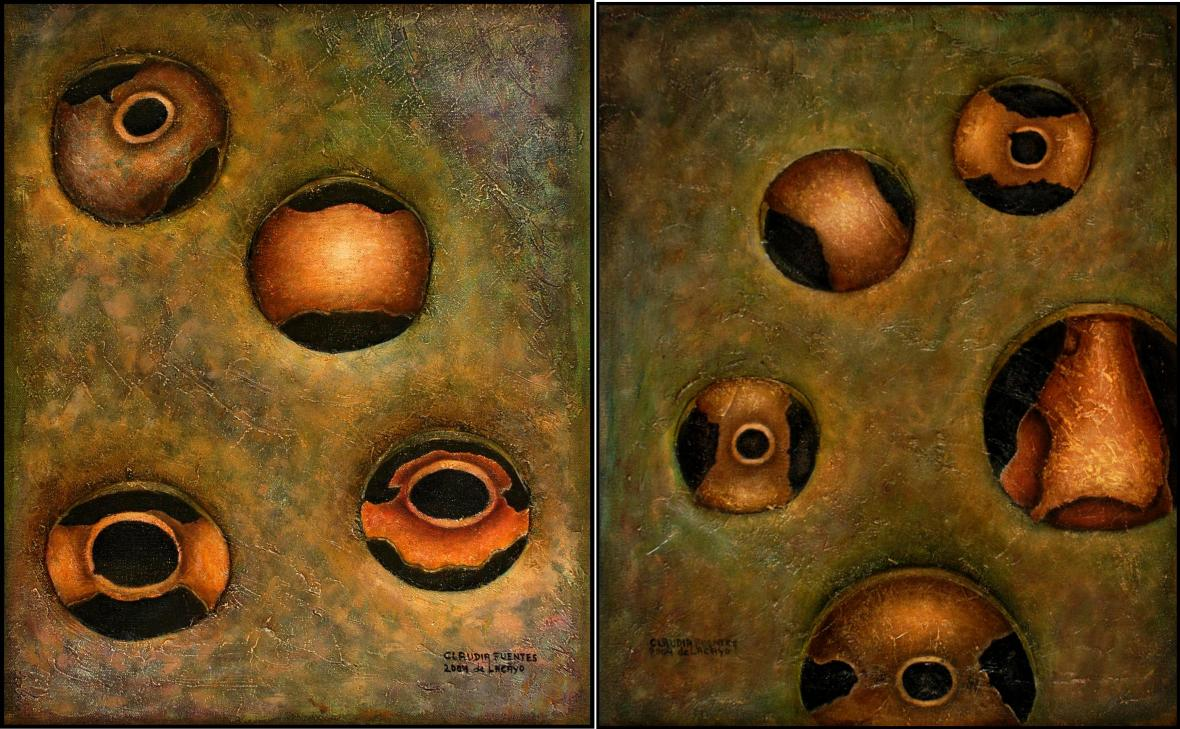 Memory on canvas, diptych, 100x80 cm, 2006.