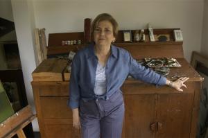 Claudia Fuentes de Lacayo en su taller.