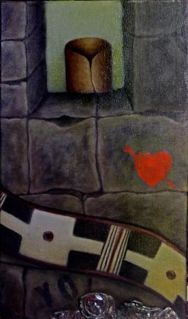 Claudia Fuentes de Lacayo, Unconscious, oil on canvas, 2014. / Claudia Fuentes de Lacayo, Inconsciente, óleo sobre canvas, 2014.